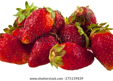 strawberry is isolated on a white background - stock photo