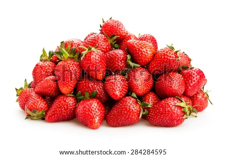 strawberry isolated - stock photo