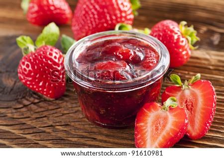 Strawberry jelly - stock photo