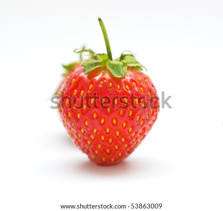 Strawberry. Look through my portfolio to find more images of the same series - stock photo