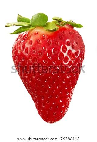 strawberry macro - stock photo