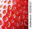 Strawberry macro, may be used as background. Shallow DOF! - stock photo