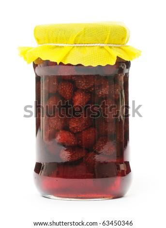 strawberry marmalade - stock photo