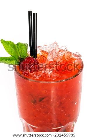 strawberry mojito - stock photo