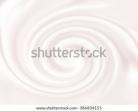Strawberry mousse texture. Yogurt ice cream background. Tasty liquid texture of milky smooth product. Sweet food silky swirl texture. Pink yogurth curl. Creamy dairy product. - stock photo