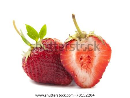 strawberry on a white background - stock photo