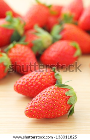 Strawberry on table