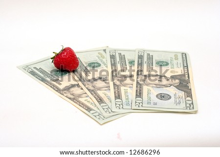 strawberry on the dollar banknotes