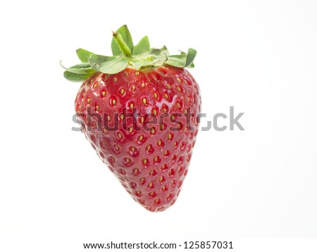 strawberry on white background with clipping path - stock photo