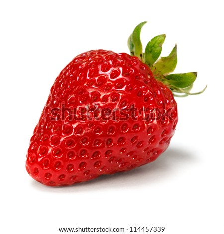 strawberry over white background - stock photo