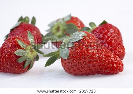 strawberry patterned background material - stock photo