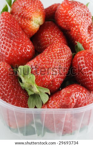 Strawberry plastic basket