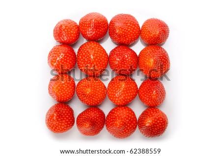 strawberry rectangle - stock photo