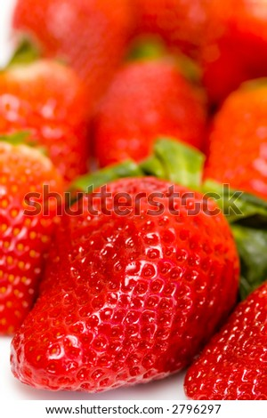 Strawberry, shallow depth of field