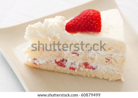 Strawberry short cake. - stock photo