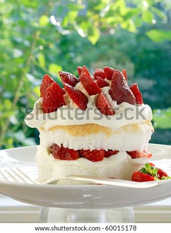 Strawberry shortcake - stock photo