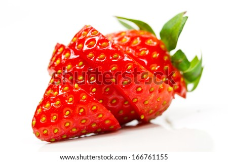 strawberry sliced - stock photo