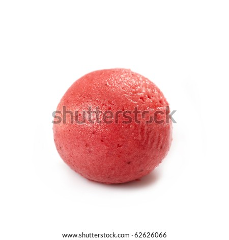 strawberry sorbet - stock photo