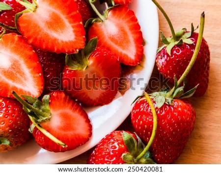 Strawberry tart red. - stock photo