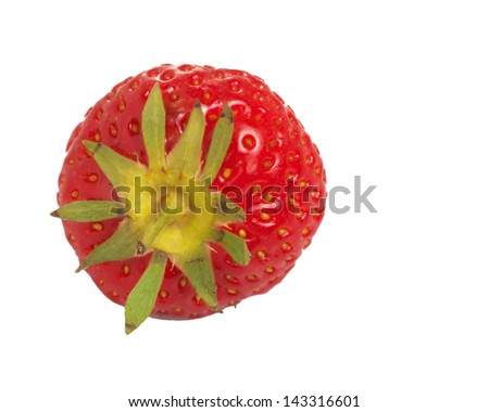 strawberry top view - stock photo