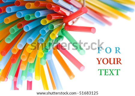 straws for cocktail with copy space for your text - stock photo