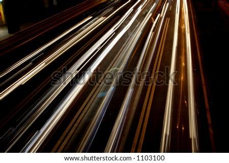 Streaks of Light - stock photo