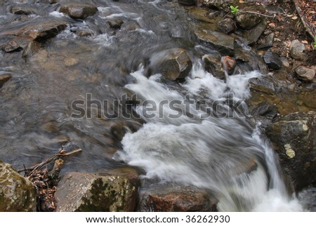 Stream along the Appalachian Trail in Vermont - stock photo