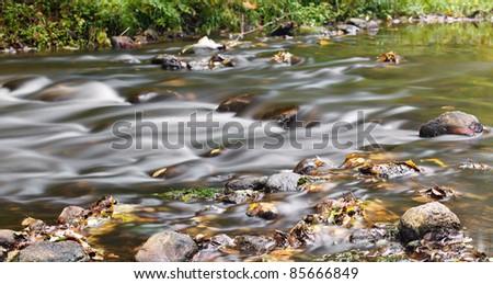 stream in autumn - stock photo