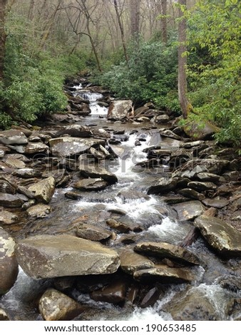 Stream in Great Smoky Mountains National Park - stock photo
