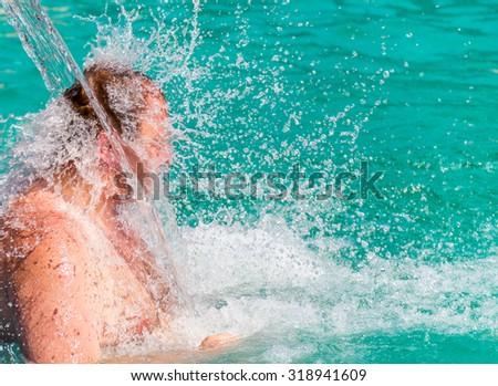 Pool Water Splash water splash man banque d'image libre de droit, photos, vecteurs