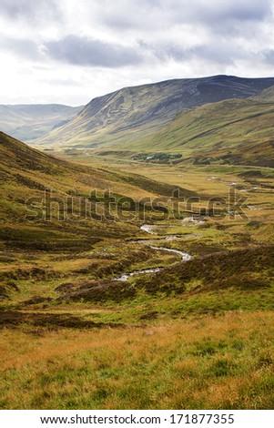 Stream through the Caingorms, Scottish Highlands, Scotland - stock photo
