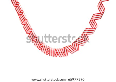 streamers isolated on white background - stock photo