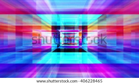 Streaming Digital Data Abstraction - stock photo