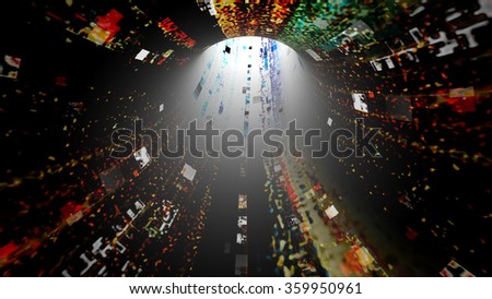 Streaming digital data abstraction 10513 from a series of futuristic tech imagery. - stock photo