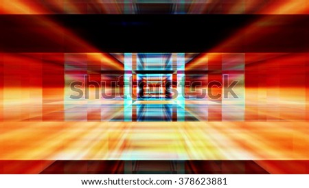 Streaming digital data abstraction 10786 from a series of futuristic tech imagery. - stock photo