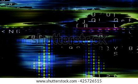 Streaming digital data abstraction 10894 from a series of futuristic tech imagery. - stock photo