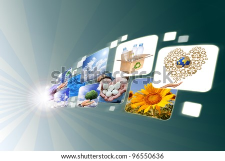 streaming images - stock photo