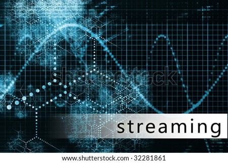 Streaming in a Blue Data Background Illustration
