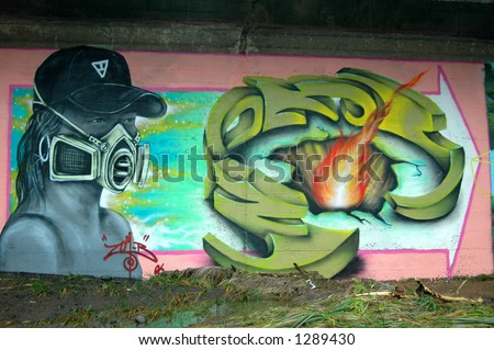 Street Art 4 - stock photo