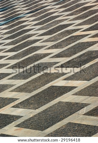 street background made of grey granite stones