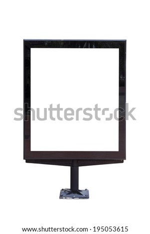 Street billboard sign on a white background. - stock photo