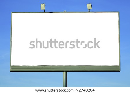 Street billboard with a space for your text - stock photo