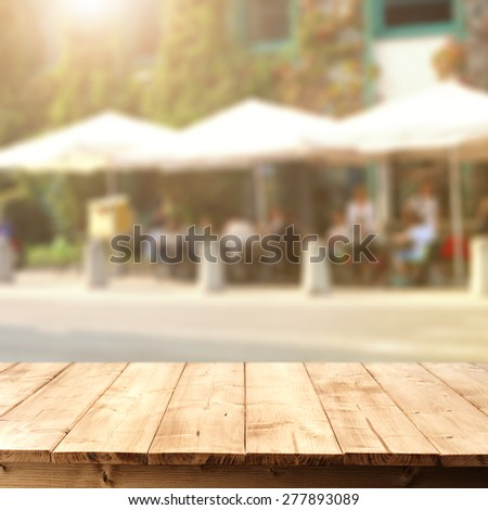 street cafe and board  - stock photo