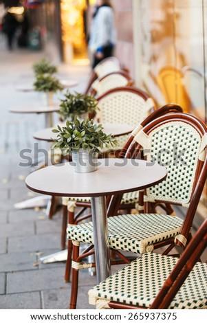 street cafe in Stockholm - stock photo