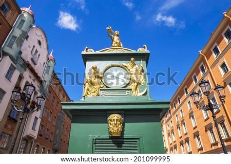 street clock in St. Petersburg. Russia - stock photo