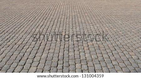 Street cobblestone texture - stock photo