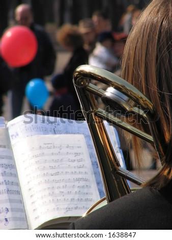 Street concert - stock photo