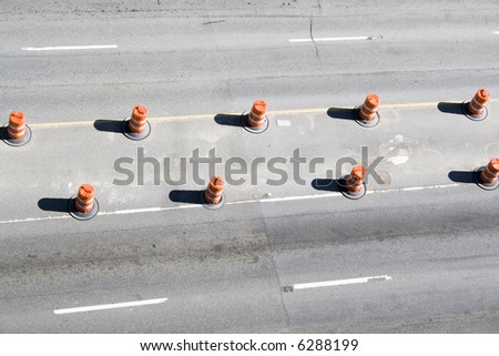 Street construction - stock photo