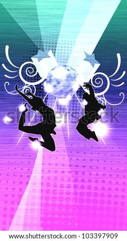 Street dance background (poster, web, leaflet, magazine) - stock photo