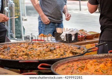 Street Food Curry. Take Away Indian Cuisine - stock photo